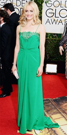 Taylor Schilling - 2014 Golden Globes: Red Carpet Arrivals - Golden Globes 2014 - Celebrity - InStyle