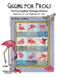 Pink Flamingo Applique Large Format Quilt by AshtonPublications
