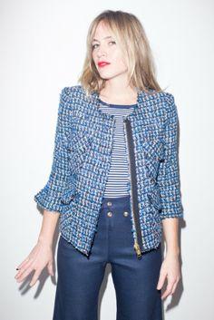 Smythe Boucle Jacket (blue)