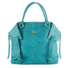 Such a beautiful teal diaper bag!