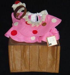 POTTERY BARN KIDS CUPCAKE COSTUME + TREAT BAG SIZE 2T 3T HALLOWEEN NEW PINK CAKE