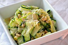 Shaved Zucchini Salad with Parmesan & Pine Nuts - The Noshery