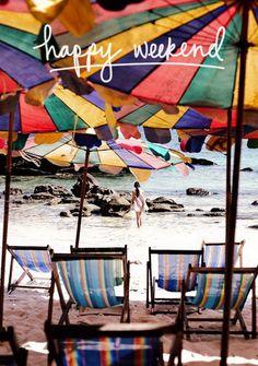 #Weekend Inspiration Beach Sun Summer Colorful