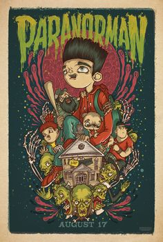 'ParaNorman' limited edition poster by Mondo. Poster artist: Poster artist: Drew Millward