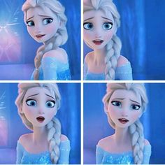 Did anyone else think she looked so beautiful right here? It's like the first time you see in her face how much she loves her sister and how she wants her to be happy. SHE looks happy that (she thinks) she's freed Anna to live her life the way she wants.