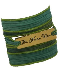 Mindful Silk Wrap Bracelet