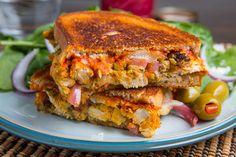 Moroccan Chicken Manchego Melt