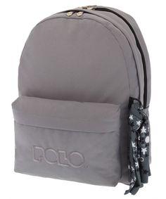 ΣΑΚΙΔΙΟ ORIGINAL POLO DOUBLE SCARF ΓΚΡΙ 9-01-235-09 Fashion Backpack, Polo, Backpacks, Bags, Handbags, Polos, Backpack, Tee, Backpacker
