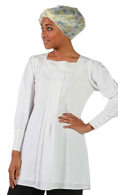 Najlaa Pleated Poly Crepe * To view further for this item, visit the image link. Kaftan Style, Modest Wear, Islamic Clothing, Embroidered Tunic, Cotton Tunics, Shirt Style, Tunic Tops, Clothes, Summer Wardrobe