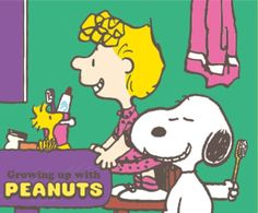 Snoopy and Sally brush their teeth Sally Brown, Peanuts Snoopy, Her Brother, Little Sisters, Charlie Brown, Growing Up, Childhood, Animation, Teeth