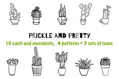 Prickle and pretty - cactus bundle by wowyellow on @creativemarket
