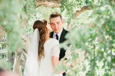 Romantic outdoor wedding photo peeking at the bride and groom through the trees Outdoor Wedding Photography, Wedding Photography Styles, Outdoor Wedding Venues, Wedding Photography Inspiration, Corporate Photography, Photography Ideas, Landscape Photography, Wedding Inspiration, Wedding Photo Pictures