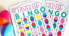 Easter Egg Bingo! Printable Easter Game for Kids | Sunny Day Family
