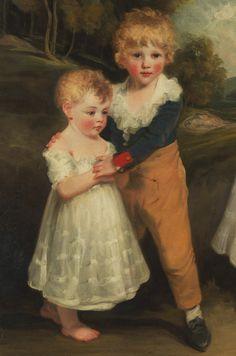 John Hoppner. Detail from The Sackville Children, 18th Century.