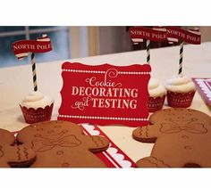 Loralee Lewis, Santa's Workshop, Gingerbread decorating, Christmas cookies, Holiday party