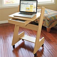 Z Mobile Workstation, Rolling Laptop Desk, Adjustable Height Table | Solutions catalog. Need one for kid's room!!