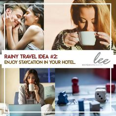 Who says you cannot travel and have a vacation during the rainy season?  #LeeBoutiqueHotel has some tips for your chill moments!  Rainy Travel Idea #2: Staycation at your hotel.  -Enjoy the cuddle weather on your bed. -Have some coffee. -Do a movie marathon. -Play board or card games.