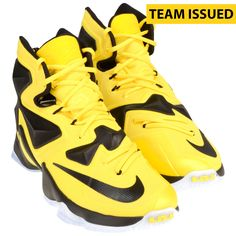 Oregon Ducks Fanatics Authentic Team-Issued Yellow and Black Nike Lebron  James XIII Basketball Shoes