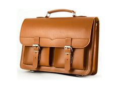 Men's and Women's GIFT TAN Leather Messenger by CovoyLeather