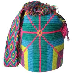 $90.00 FREE SHIPPING   Handmade and Fair Trade Wayuu Mochila Bags – LOMBIA & CO.   www.LombiaAndCo.com