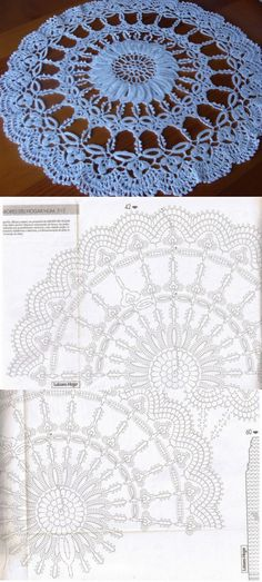 labhousehold.com Crochet Mat, Crochet Doily Diagram, Crochet Dollies, Crochet Doily Patterns, Crochet Round, Crochet Patterns For Beginners, Crochet Home, Thread Crochet, Filet Crochet