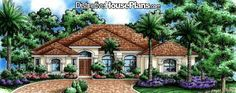 House Plan #021255 - Miravista - Distinctive House Plans
