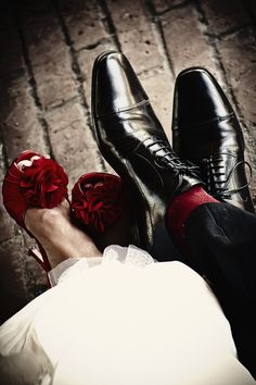 Wedding Photo - fun picture... showcase your pretty shoes, Charl
