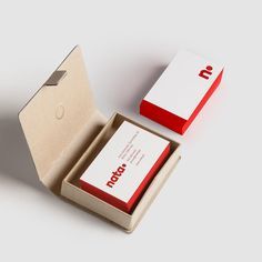 Nata Design Business Card - full Nata Design Rebrand project available on my website(link in bio) #nata #design #red #white #businesscards #stationary