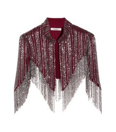 Shop on-sale GANNI Fringed beaded georgette cape. Browse other discount designer Jackets & more on The Most Fashionable Fashion Outlet, THE OUTNET. Cape Designs, Blouse Designs, Beaded Cape, Cape Jacket, Cape Coat, Cape Dress, Stage Outfits, Indian Designer Wear, Gypsy Fashion