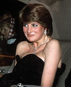 Lady Diana Spencer making her first official appearance at a gala evening at Goldsmith's Hall to raise funds for the Royal Opera House in London, March 9, 1981.
