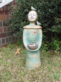 Garden Nun- Theresa Glisson. I love this!  Must do something like it!  MAM