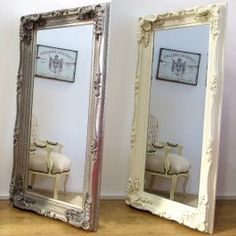 highly decorative large framed ornate shabby chic antique style large mirror fittings for landcape or portrait hanging flush to the wall or simply leant antique dresser framed leaning mirror shabby chic