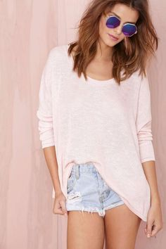 Nasty Gal Static Knit - Blush