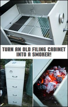 Do you have an old filing cabinet merely gathering dust in your house? You can repurpose it as a novel smoker! Learn more about this project here...