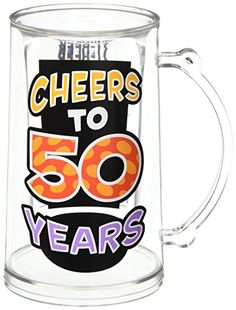 Laid Back C524V Cheers to 50 Years Acrylic Tankard 14Ounce ** Learn more by visiting the image link.