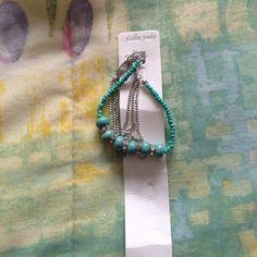 Cute silver and turquoise bracelet Nwt bracelet Fashion jewelry Jewelry Bracelets