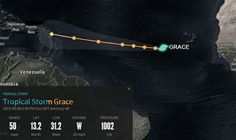 DLQQ: Ubicacion de la tormenta tropical Gracia a las 05:...