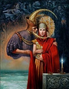 Michael Cheval - SOLAR ECLIPSE - Oil on Canvas