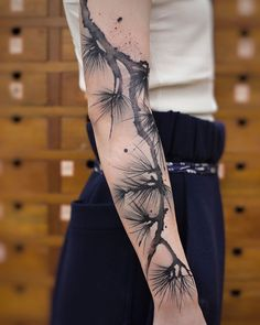 These Watercolor Tattoos By Chen Jie Will Make You Wish You Had One - diy tattoo images Natur Tattoos, Kunst Tattoos, Body Art Tattoos, New Tattoos, Tattoos Pics, Skull Tattoos, Temporary Tattoos, Tatoos, Botanisches Tattoo