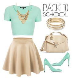 """""""#backtoschool"""" by kate-rattigan ❤ liked on Polyvore featuring LE3NO, Topshop, Balmain, CXL by Christian Lacroix, Charlotte Russe, Jennifer Lopez and BackToSchool"""