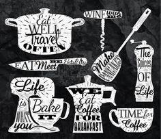 blackboard lettering coffee shop - Google Search