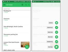 Evernote Android Screen