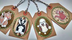 Wildlife Gift Tags  Cute Countryside by CraftyMushroomCards