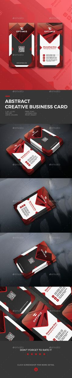 Abstrack Creative Business Card - #Business Cards Print Templates Download Here:  https://graphicriver.net/item/abstrack-creative-business-card/19770459?ref=suz_562geid