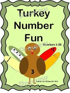 Students will love matching tally marks, counters, counters on ten frames and number words on feathers to the correct #turkey. This activity is for #numbers 1-20. There are also five follow up worksheets to go along with this adorable activity. Happy #Thanksgiving!