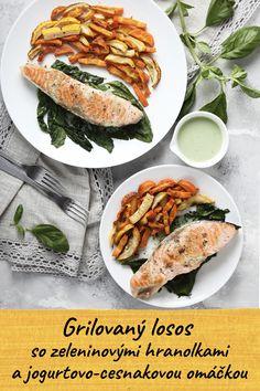 Broiled Salmon with Vegetable Fries and Yogurt-Garlic Dip How To Wash Vegetables, Fried Vegetables, Healthy Vegetables, Healthy Fats, Healthy Recipes, Chou Rave, Garlic Dip, Mets, Salmon Burgers