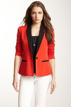 Tuxedo Jacket. To dress up jeans or give a flair to black leather.