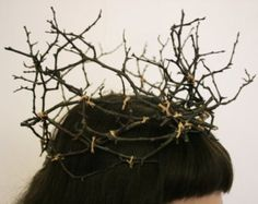 fairy headpiece on Etsy, a global handmade and vintage marketplace. Head Crown, Fairy Crown, Cotton String, Midsummer Nights Dream, Circlet, Autumn Trees, Costume Accessories, Headdress, Masquerade