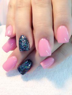 Pink n black glitter gel