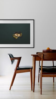 One Fine Print + Retropia Mid Centuary Danish Furniture.  Match made!